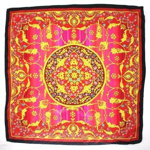 NWT Versace Collection Silk Printed Scarf Ombre